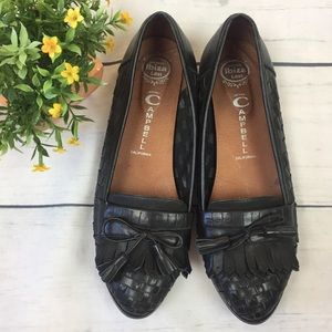 Jeffrey Campbell Black Leather 'Edison' Loafers